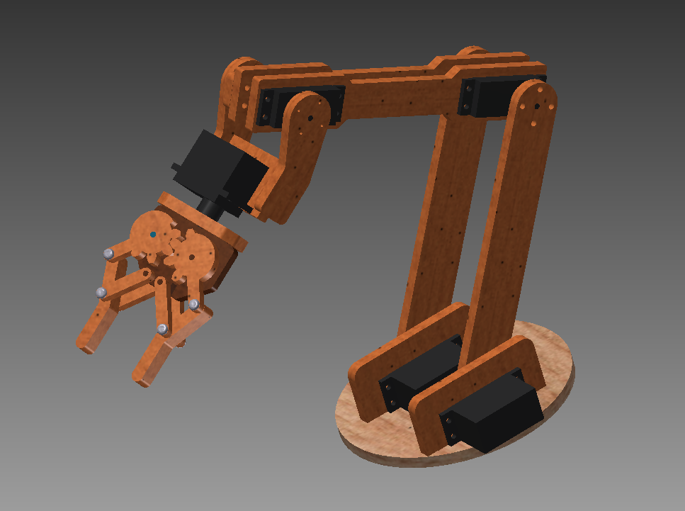 Robot Arm Design In Autodesk Inventor Daniel S Blog