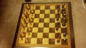 chessboard marked pieces