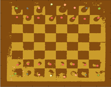 segmented chess piece detection